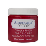 Americana Decor Chalky Finish Paint Red